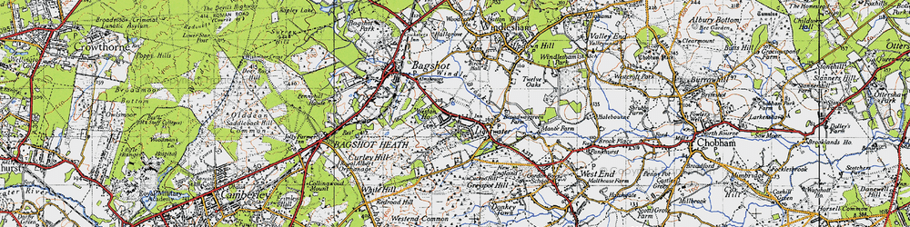 Old map of Lightwater in 1940