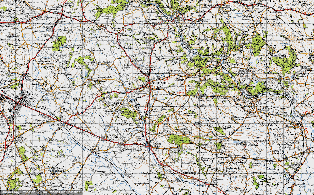 Old Map of Lightwood, 1946 in 1946