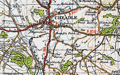 Old map of Lightwood in 1946