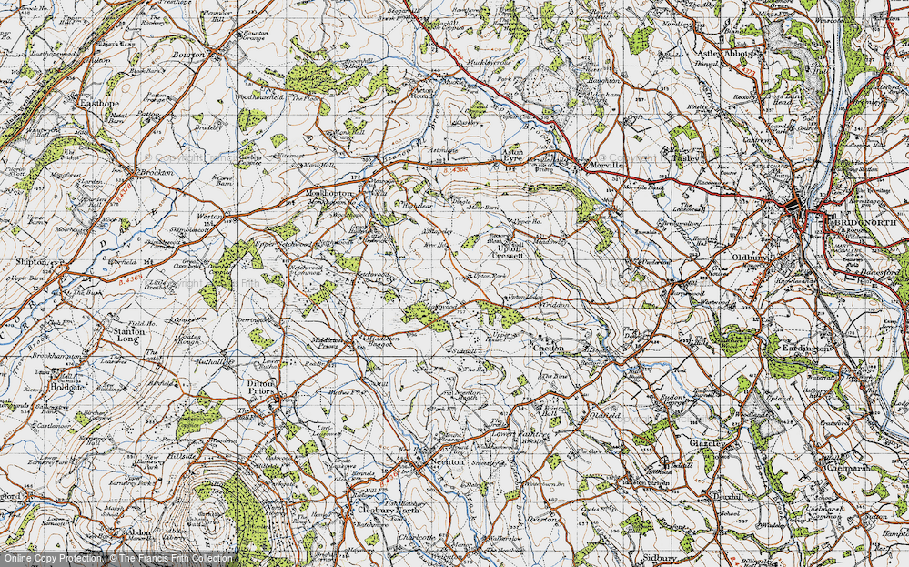 Old Map of Lightwood, 1947 in 1947
