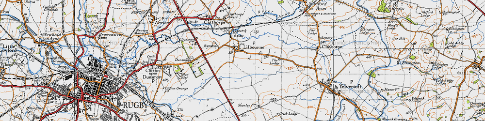 Old map of Lilbourne in 1946