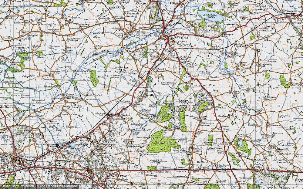 Old Map of Lilleshall, 1946 in 1946