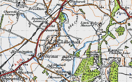 Old map of Lilleshall in 1946
