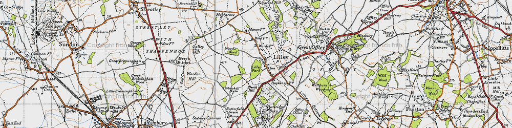Old map of Lilley in 1946