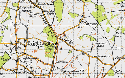 Old map of Lilley in 1947