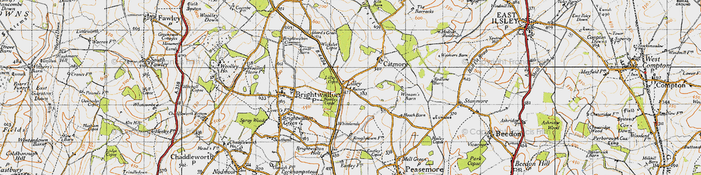 Old map of Whitelands in 1947