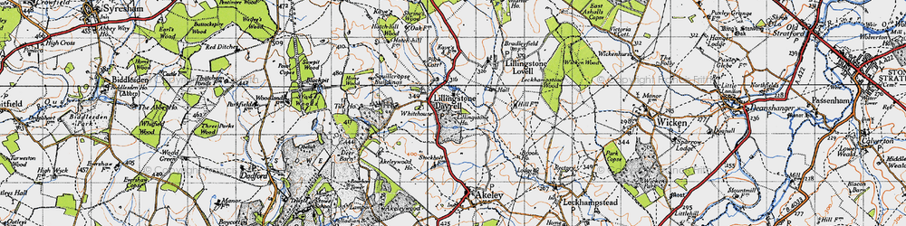Old map of Tilehouse Wood in 1946