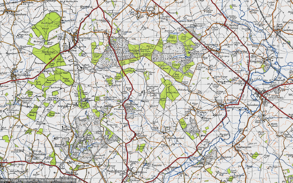 Old Map of Lillingstone Lovell, 1946 in 1946