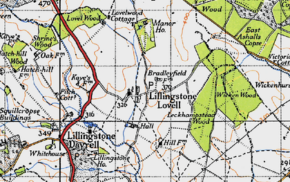 Old map of Leckhampstead Wood in 1946