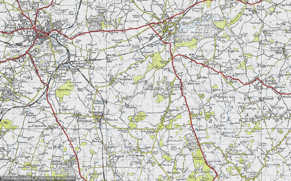 Old Map of Lillington, 1945 in 1945