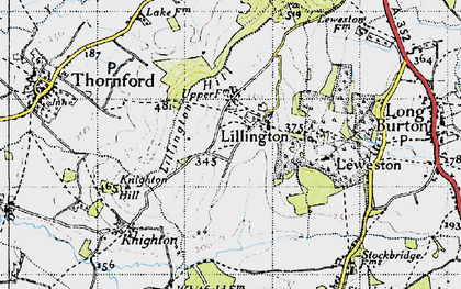 Old map of Lillington Hill in 1945