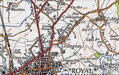 Old map of Lillington in 1946