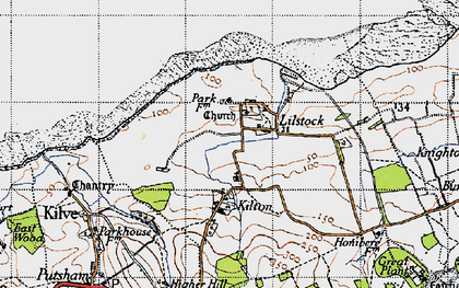 Old map of Lilstock in 1946
