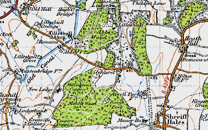 Old map of Abbey Wood in 1946