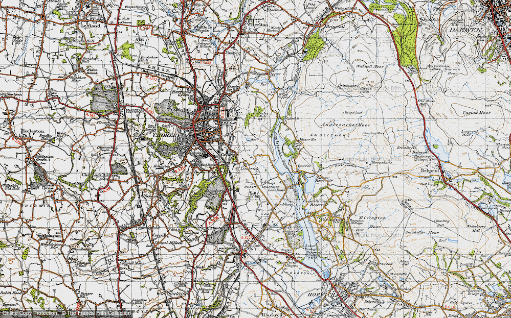 Old Map of Limbrick, 1947 in 1947