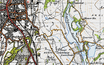 Old map of Limbrick in 1947