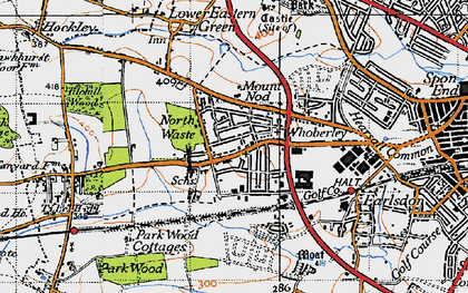 Old map of Lime Tree Park in 1946