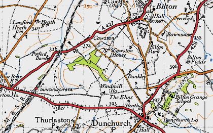 Old map of Lime Tree Village in 1946