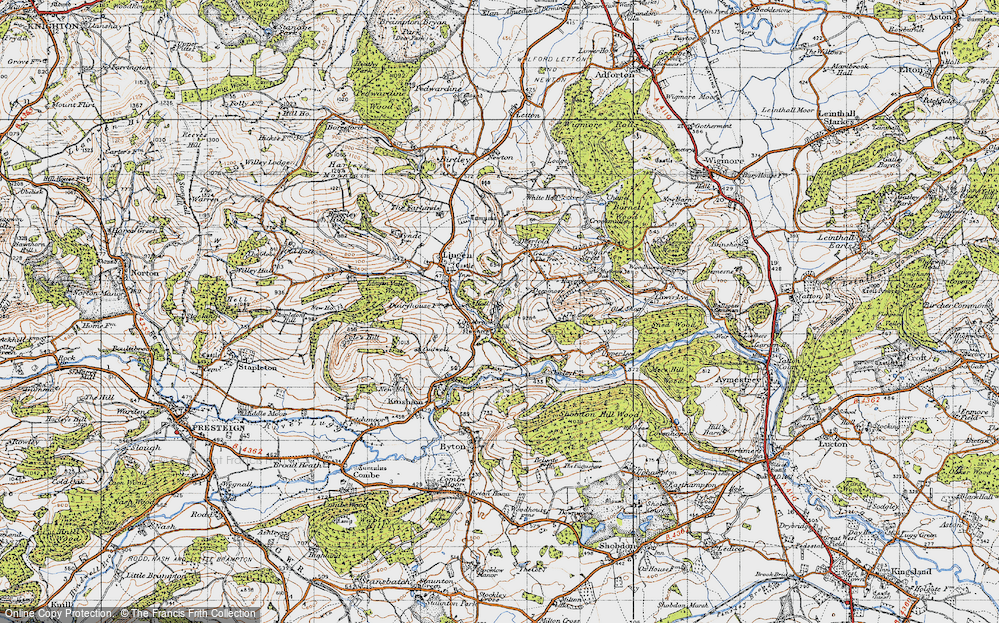 Old Map of Limebrook, 1947 in 1947