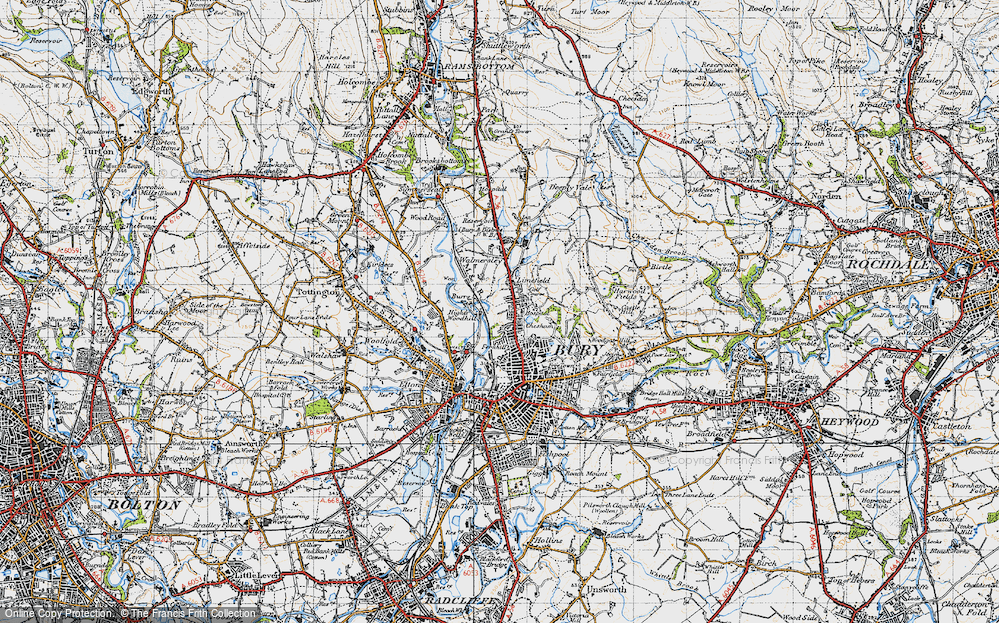 Old Map of Limefield, 1947 in 1947