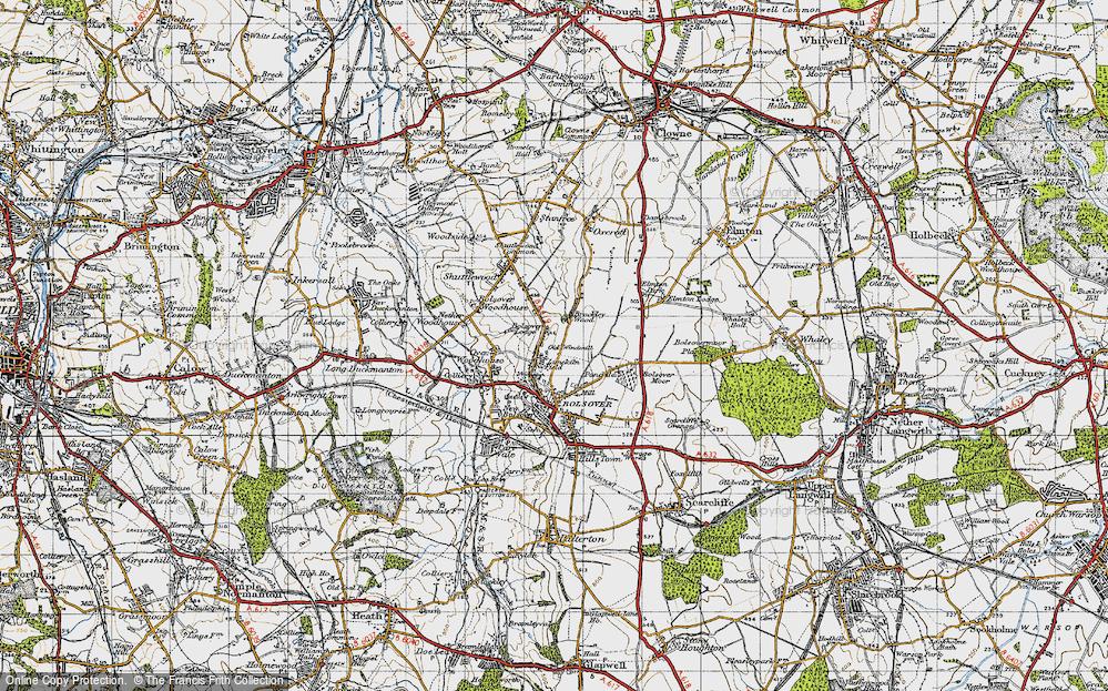 Old Map of Limekiln Field, 1947 in 1947