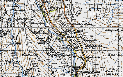 Old map of Wolfcleugh in 1947