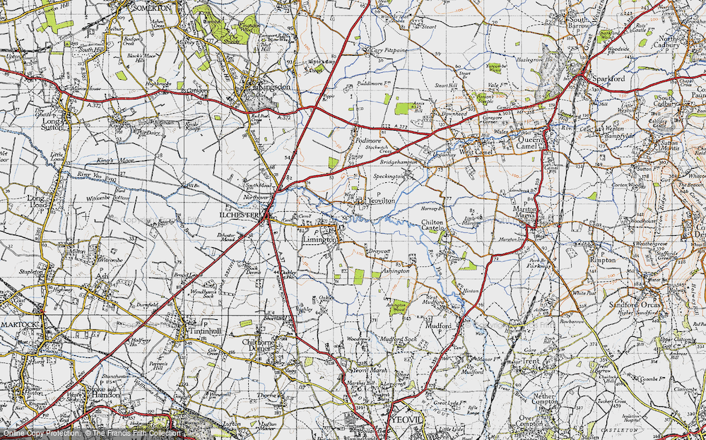 Old Map of Limington, 1945 in 1945