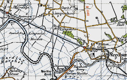 Old map of Limpenhoe Hill in 1946