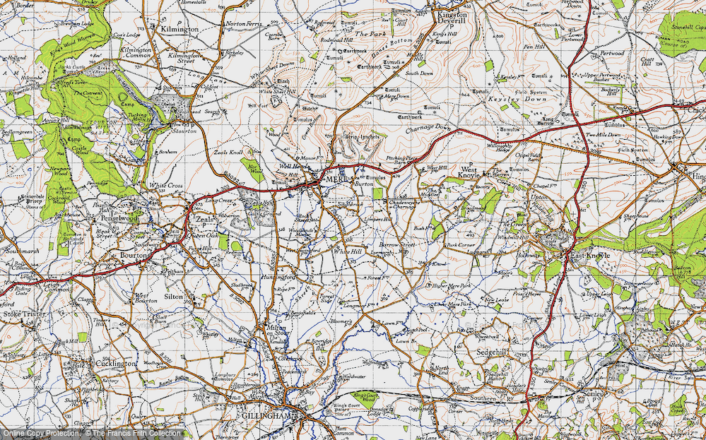Old Map of Limpers Hill, 1945 in 1945