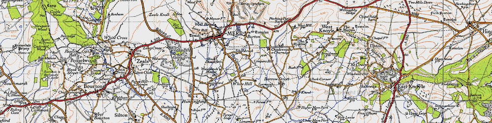Old map of Limpers Hill in 1945