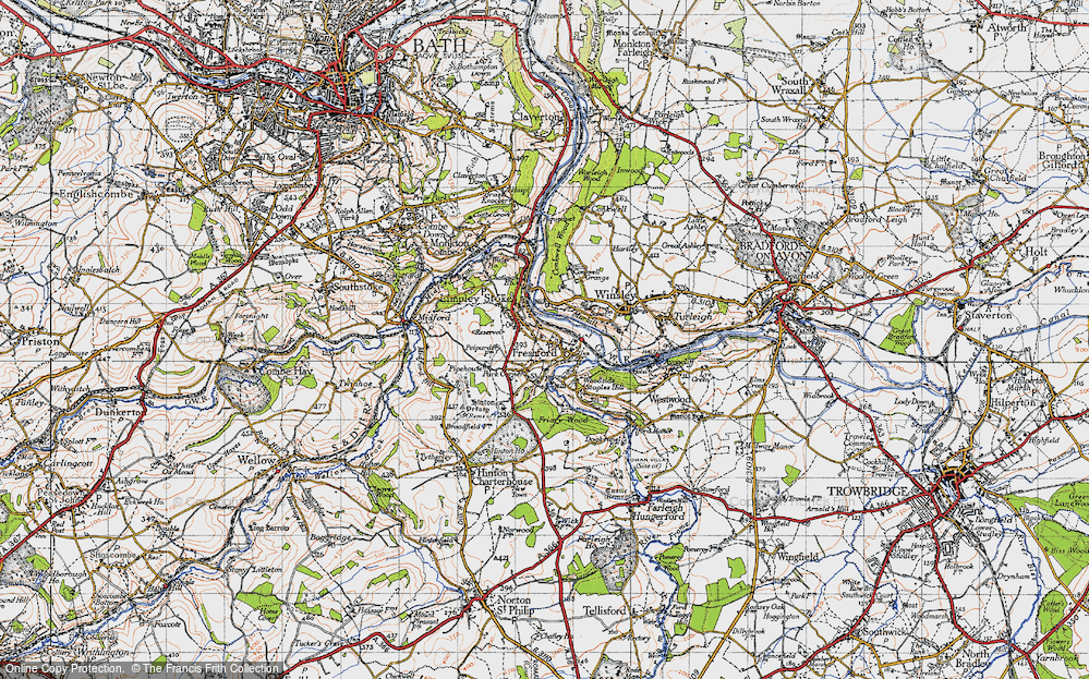 Old Map of Limpley Stoke, 1946 in 1946