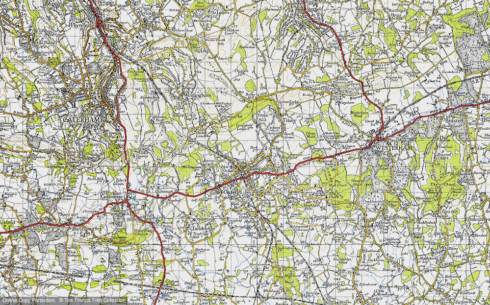 Old Map of Limpsfield, 1946 in 1946