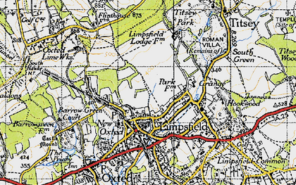 Old map of Limpsfield in 1946