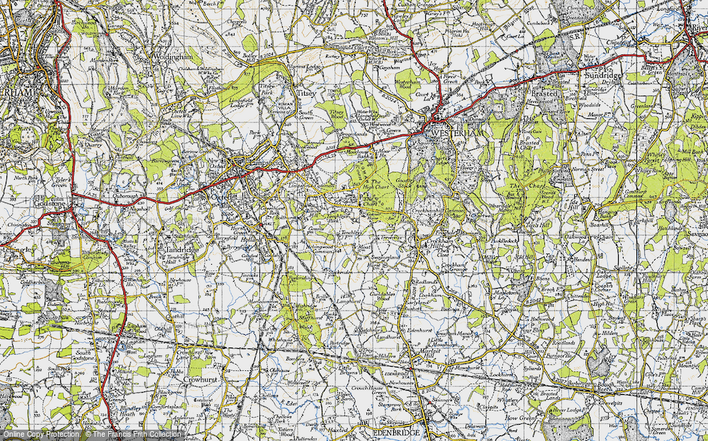 Old Map of Limpsfield Chart, 1946 in 1946