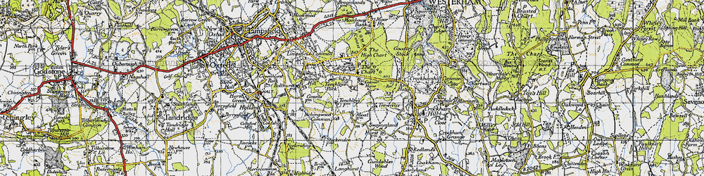 Old map of Limpsfield Chart in 1946