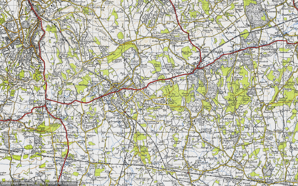 Old Map of Limpsfield Common, 1946 in 1946