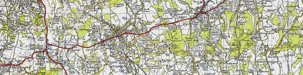 Old map of Limpsfield Common in 1946