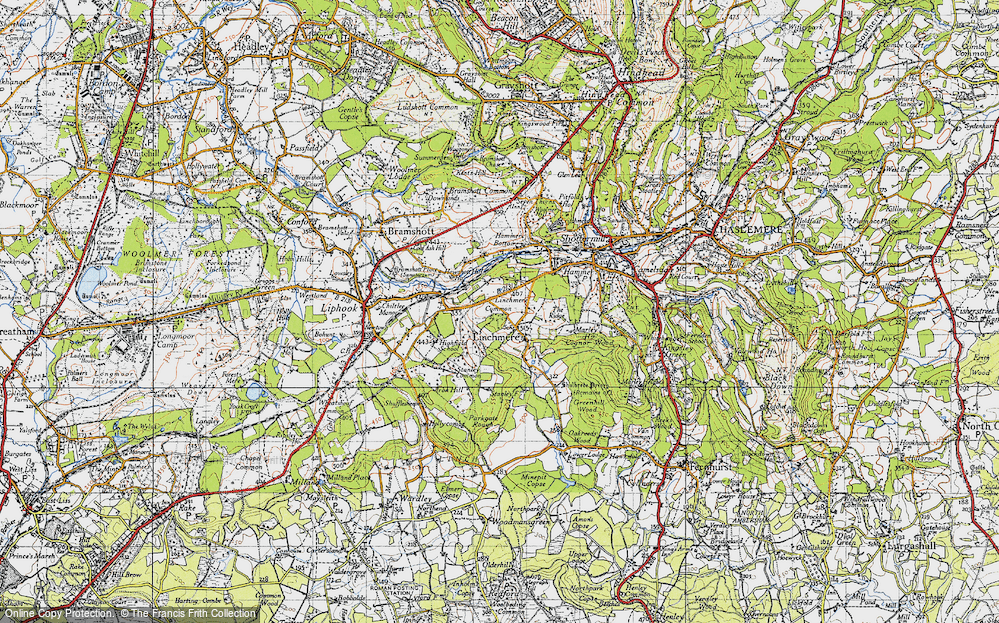 Old Map of Historic Map covering Linchmere Common in 1940