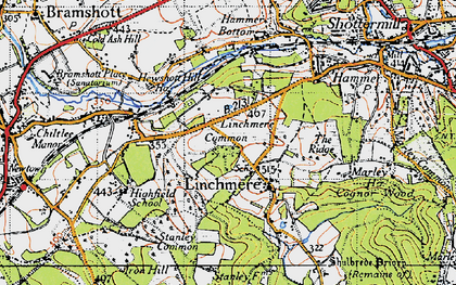 Old map of Linchmere in 1940