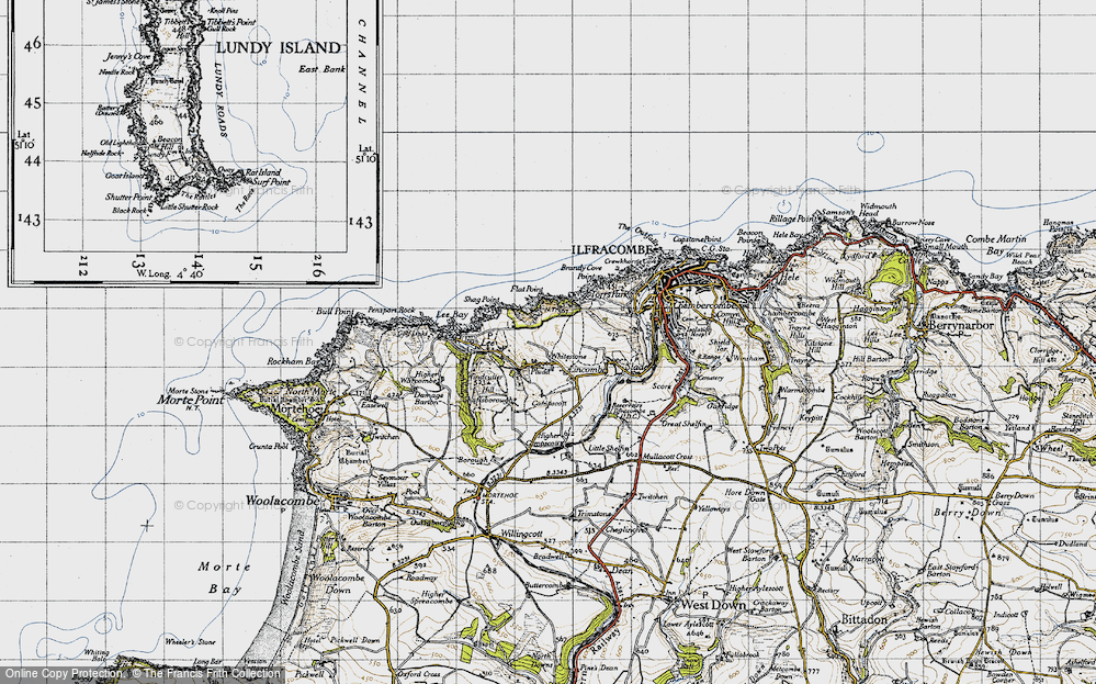 Old Map of Lincombe, 1946 in 1946