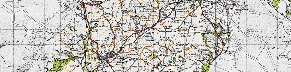 Old map of Whinfield in 1947