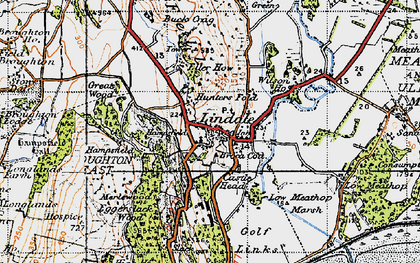 Old map of Lindale in 1947