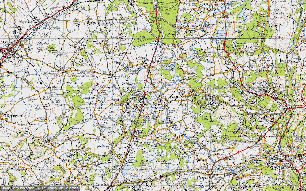 Old Map of Lindford, 1940 in 1940