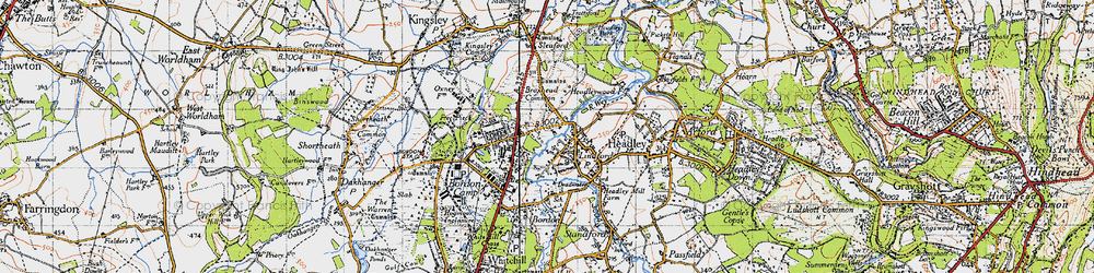 Old map of Lindford in 1940