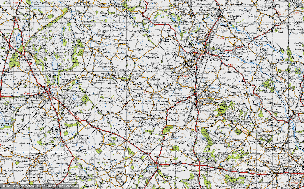 Old Map of Lindow End, 1947 in 1947