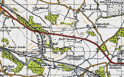 Old map of Lindrick Dale in 1947