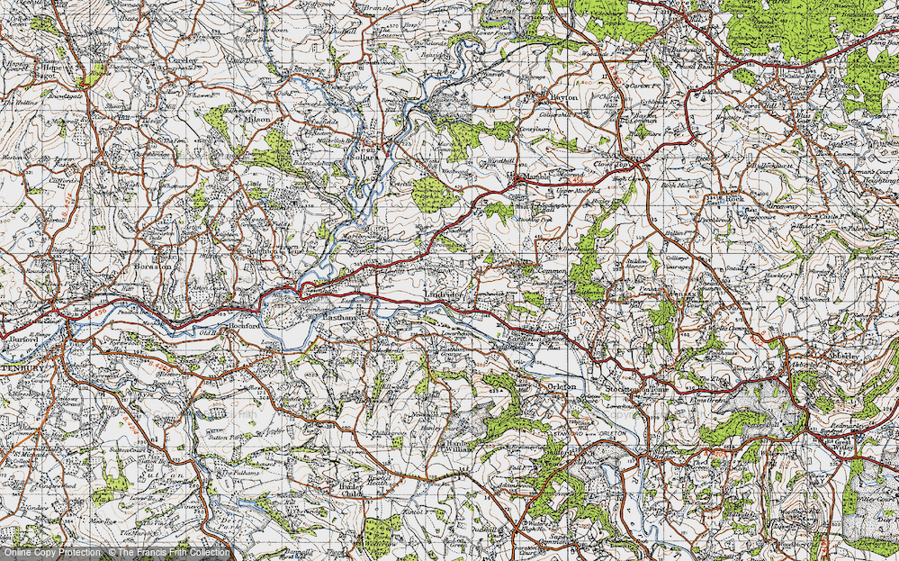 Old Map of Lindridge, 1947 in 1947