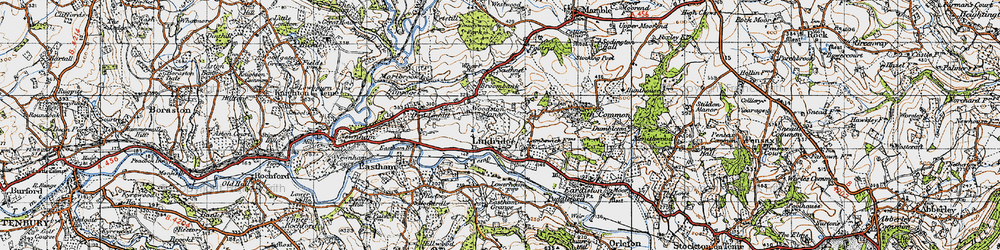Old map of Lindridge in 1947