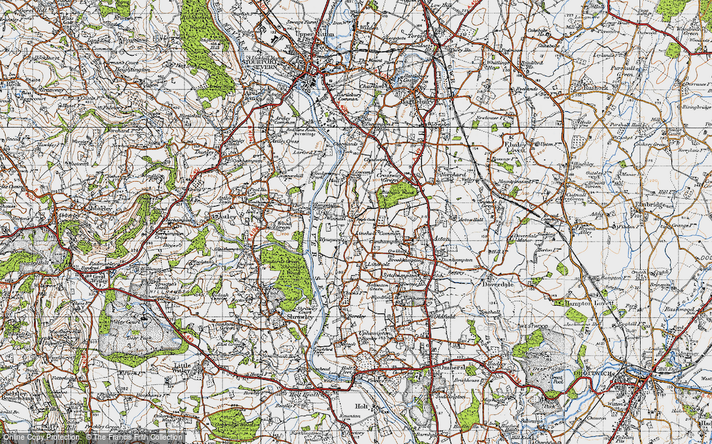 Old Map of Lineholt Common, 1947 in 1947