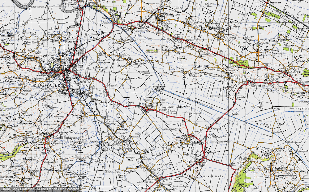 Old Map of Liney, 1946 in 1946